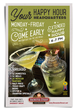 Brewster Street Happy Hour poster