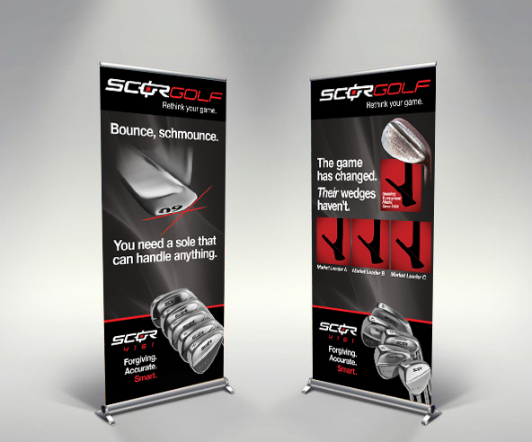 ScorGolf Expandable Banners