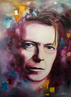David Bowie - oil on canvas