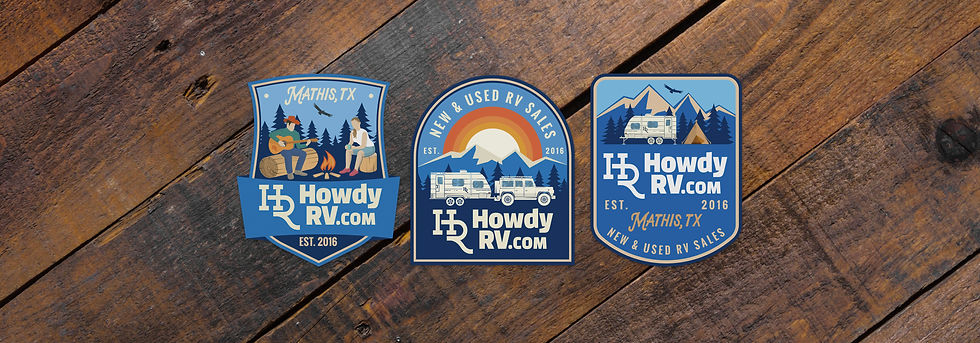 Howdy RV sticker design