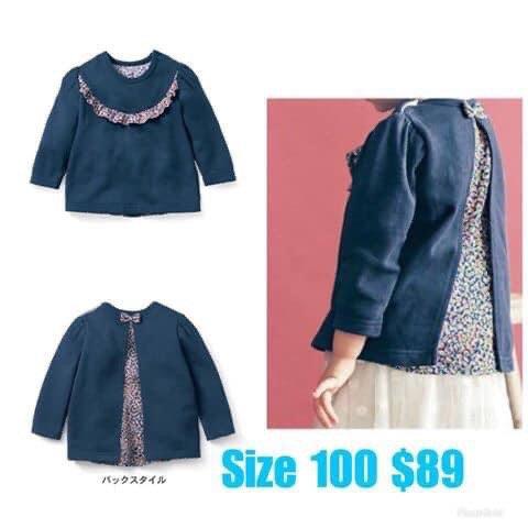 日本女童長袖 size 100