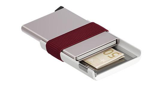Secrid - Cardslide (White & Bordeaux)