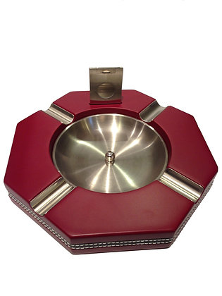 Red Wood Ashtray (Octagonal)