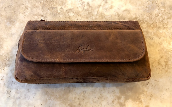Brigham Vintage Leather Pipe Case