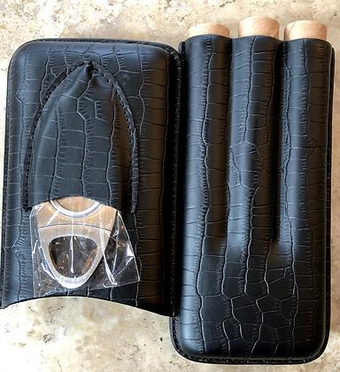 3 Finger Aligator Skin Case w/ Cutter