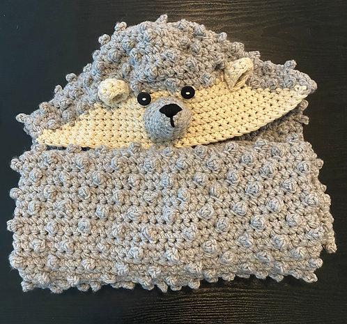 The Hedgehog Hooded Blanket