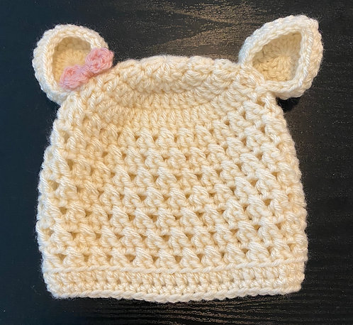 Baby Girl Bear Hat