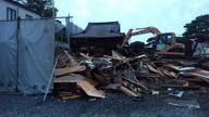 本堂裏側の解体