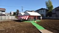 起工式テント