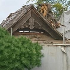 本堂屋根解体