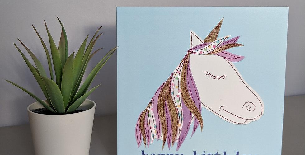 'Unicorn' Happy Birthday Card