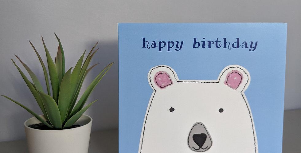 'Polar Bear' - Happy Birthday Card