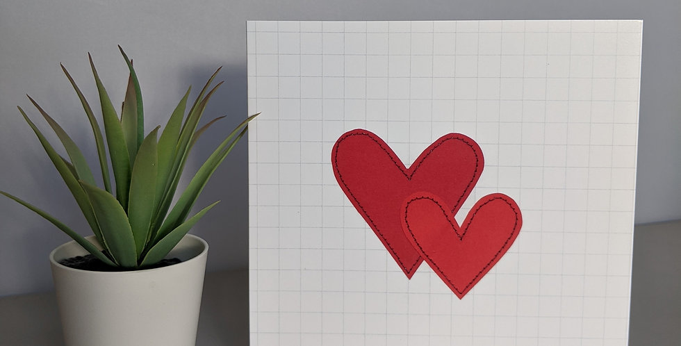 'Two Hearts' Greetings Card