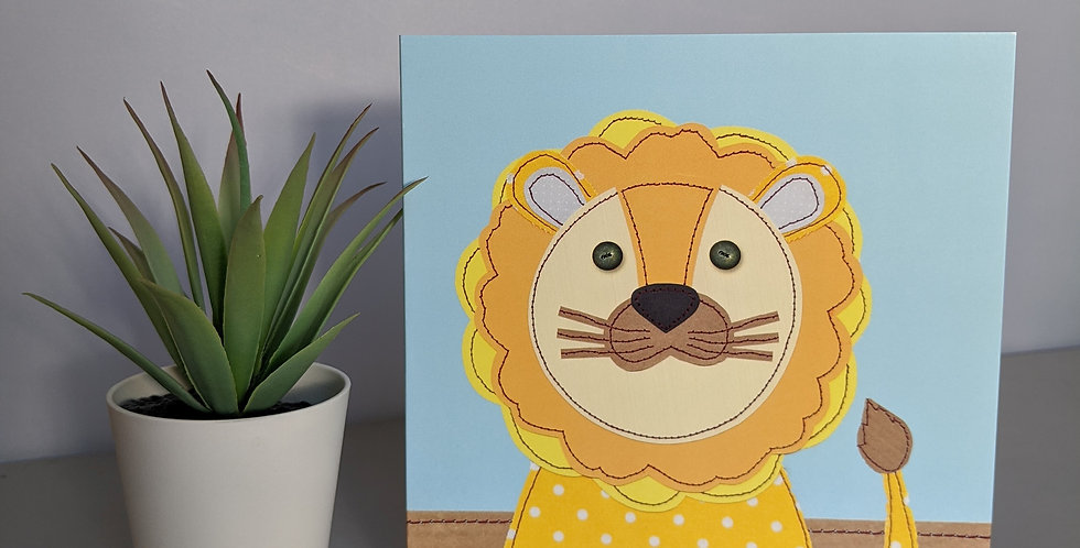 'Lion' Greetings / Birthday Card