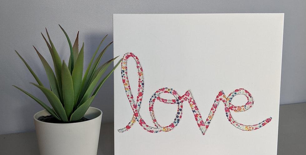 'Love' Greetings / Birthday Card