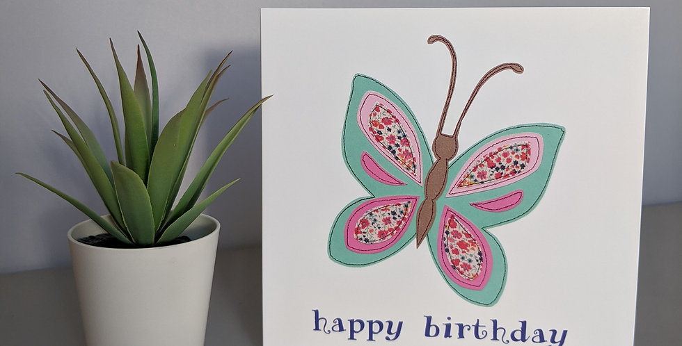 'Butterfly' Happy Birthday Card