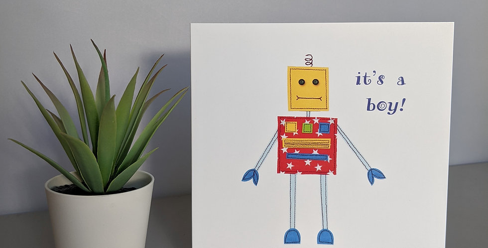 'Robot' Its A Boy Greeting Card