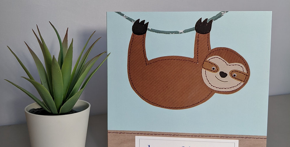 'Sloth' Birthday Card