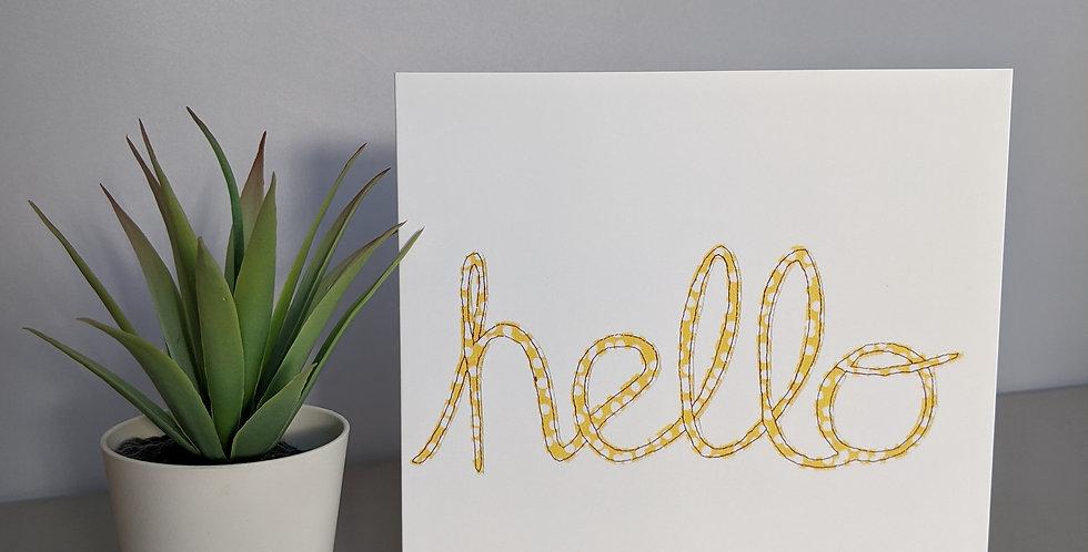 'Hello' Greetings / Birthday Card