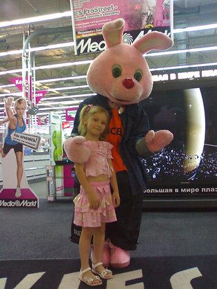 Ростовая кукла Розовый Заяц
