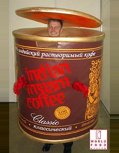 Ростовая кукла Банка кофе
