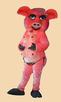 ростовая кукла Свинья Стриптизерша. Костюм для ппраздника, карнавальный костюм.