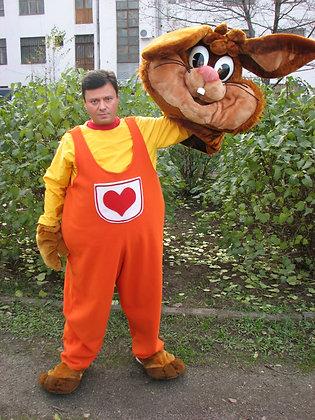 ростовая кукла заяц,карнавальный костюм, товары для праздника