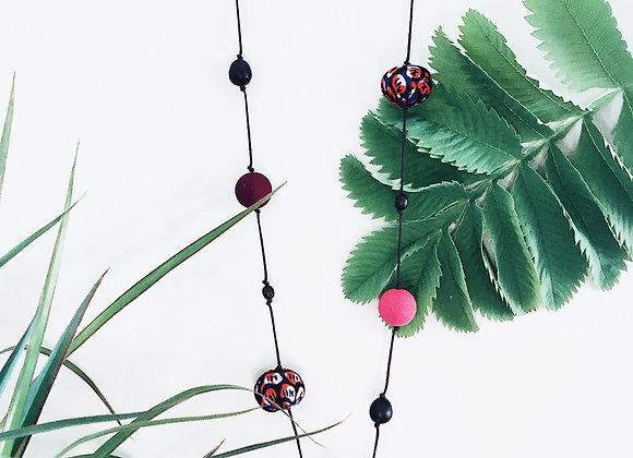 Collier-sautoir BRAZZA rose