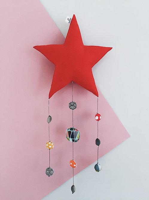 Mobile étoile — rouge