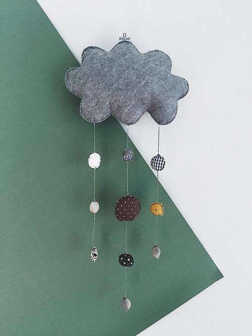 Mobile nuage — gris chiné