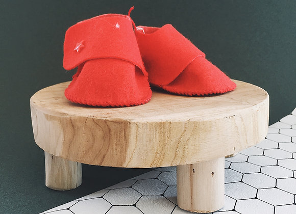 Chaussons - rouge