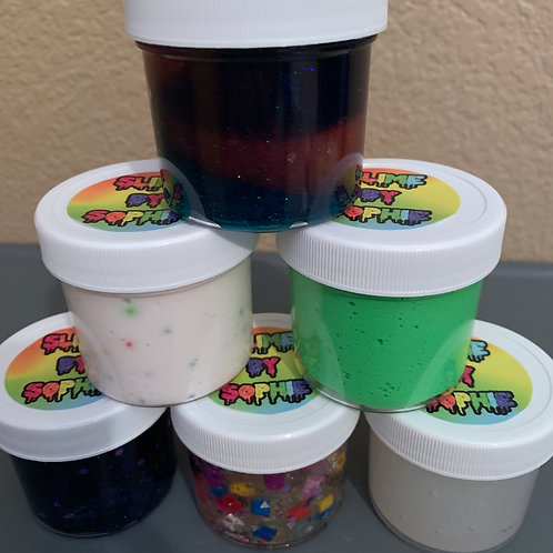 SLIME PARTY FAVORS - SET OF 12 (2OZ)