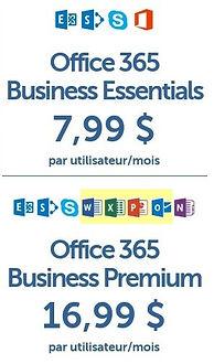 Plans Office 365 Business chez Sherweb