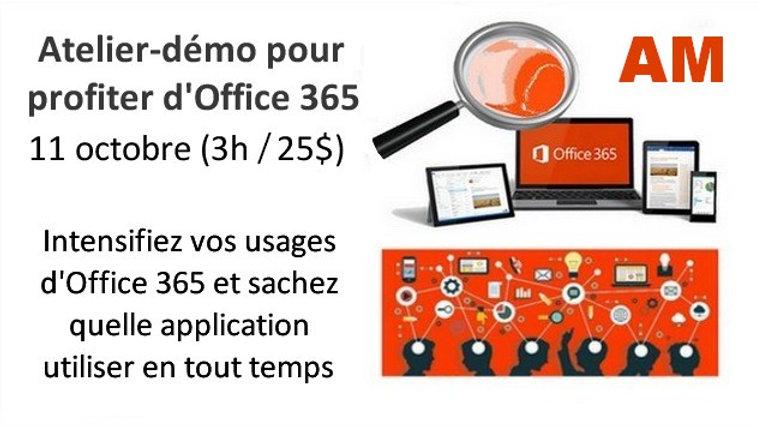 Atelier-démo pour profiter d'Office 365 - Mercredi 11 octobre AM (3h)