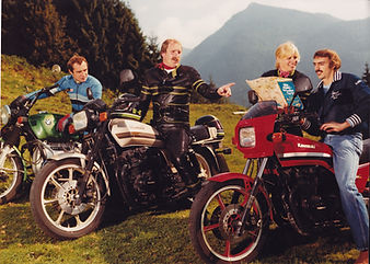Motorradtor mit Paul Breitner