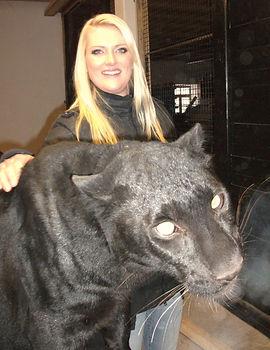 Besuch auf dem Filmtierhof Simbeck, mit Panther El Negro aus der RTL-Werbung