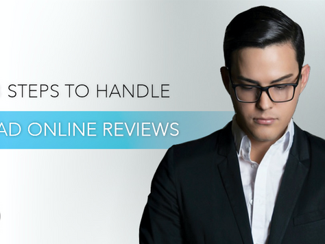 3 Steps to Handle Bad Online Reviews