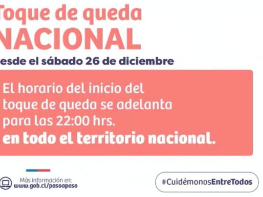 REGIÓN DE ANTOFAGASTA SE MANTIENE EN FASE 3. TOQUE DE QUEDA SE ADELANTA PARA LAS 22:00 HRS