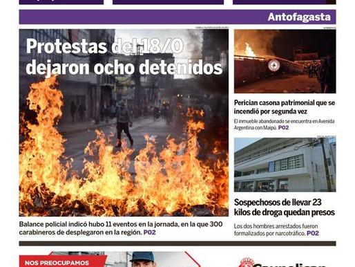 PORTADAS DE LA PRENSA ESCRITA LOCAL PARA HOY MIÉRCOLES 20 DE OCTUBRE