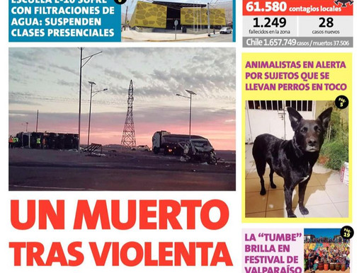 PORTADAS DE LA PRENSA ESCRITA LOCAL PARA HOY MIÉRCOLES 6 DE OCTUBRE