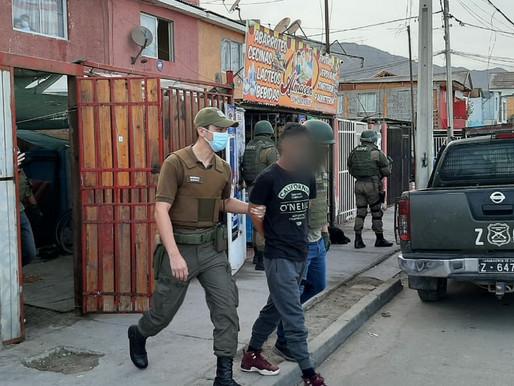 O.S.9 de Antofagasta detiene a sujeto por porte ilegal de arma de fuego y munición