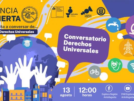 Ciclo sobre derechos universales finalizará con un conversatorio online