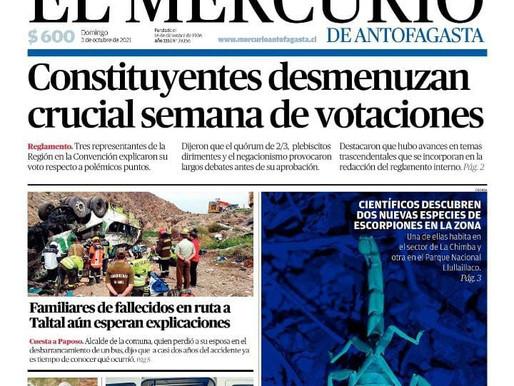 PORTADAS DE LA PRENSA ESCRITA LOCAL PARA HOY DOMINGO 3 DE OCTUBRE