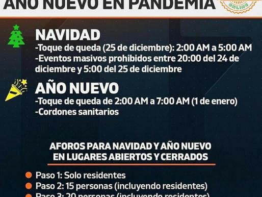 Plan para Navidad y Año Nuevo: Toque de queda a las 2 AM y sin reuniones en comunas con cuarentena