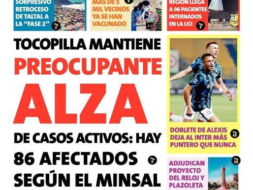 TITULARES : PRINCIPALES PORTADAS DE LA PRENSA LOCAL PARA HOY VIERNES 05 DE MARZO