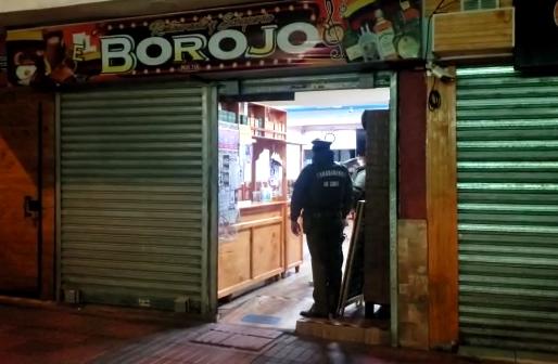 CARABINEROS SORPRENDE FUNCIONAMIENTO DE LOCAL EN TOQUE DE QUEDA