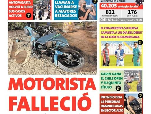 TITULARES 15/03 | LAS PORTADAS DE LOS DIARIOS TRADICIONALES DE LA REGIÓN DE ANTOFAGASTA