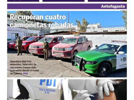 TITULARES DE LA PRENSA LOCAL ESCRITA EN LA REGIÓN DE ANTOFAGASTA PARA HOY LUNES 10 DE MAYO