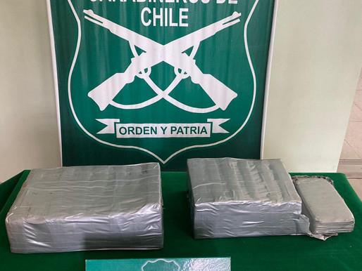 Carabineros de Tocopilla evita el tráfico de más de 67 mil dosis de drogas
