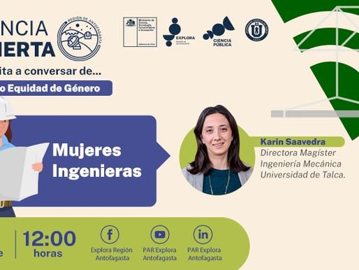 PRIMERA INGENIERA AEROESPACIAL DE CHILE ESTARÁ PRESENTE EN CICLO DE CIENCIA ABIERTA